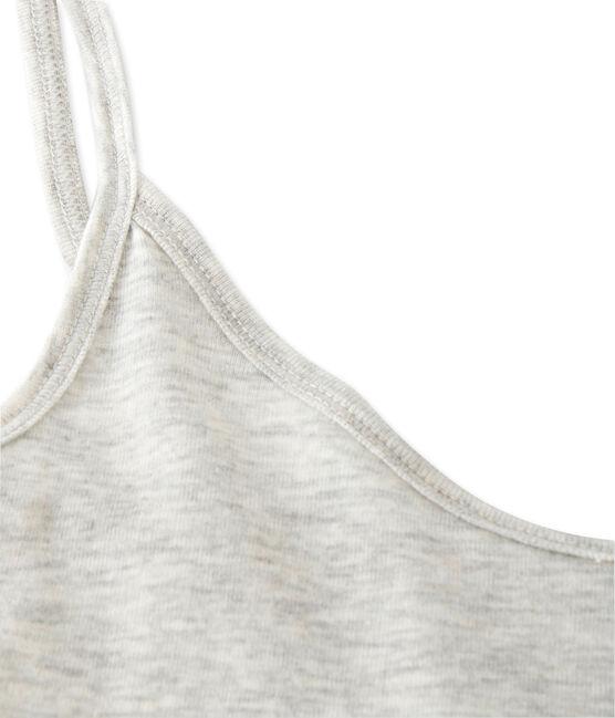 Chemise à bretelles femme en coton léger grau Beluga Chine