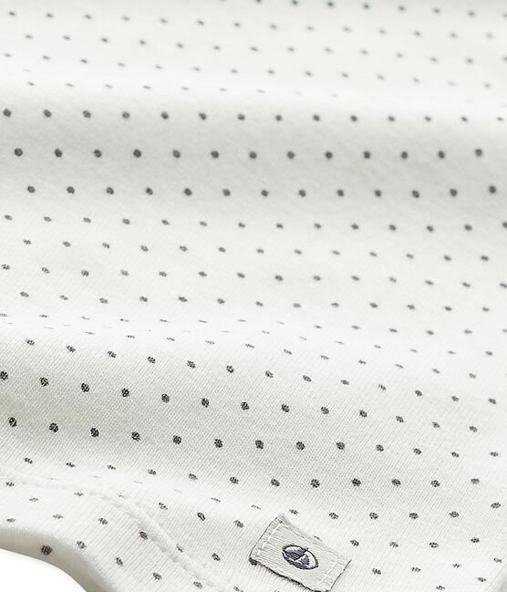 Tee-shirt de pyjama fille Mix & Match weiss Lait / grau Maki