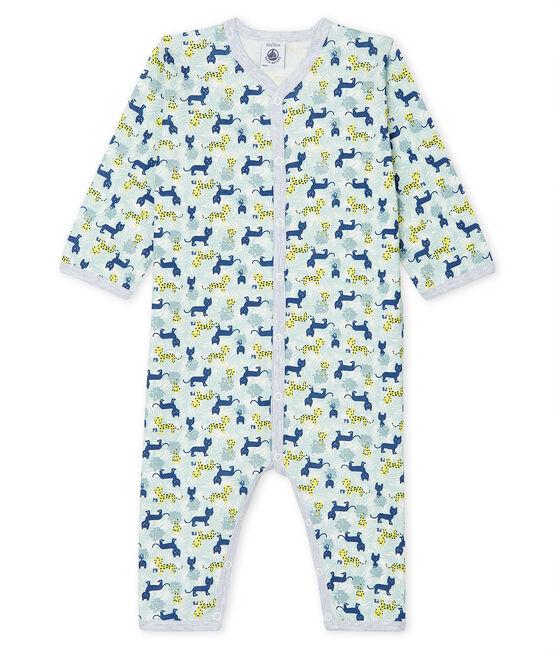 Baby-Strampler ohne Füße aus Rippstrick für Jungen weiss Marshmallow / weiss Multico