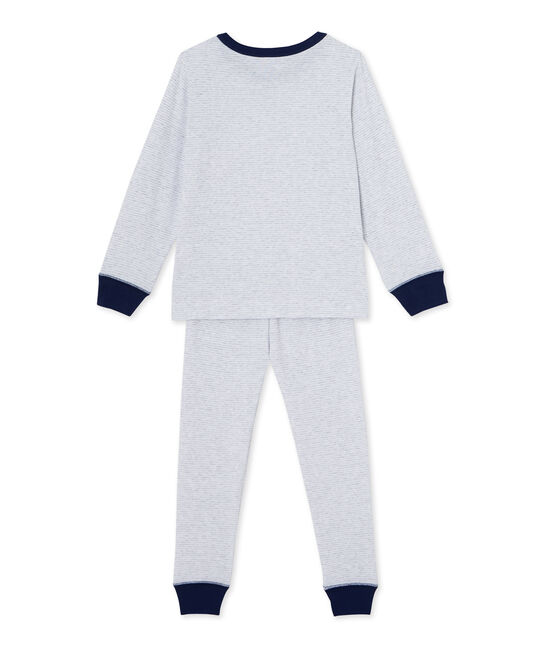Pyjama garçon en milleraies grau Poussiere / weiss Lait