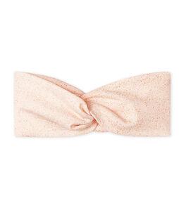 Baby-Haarband für Mädchen rosa Fleur / gelb Or