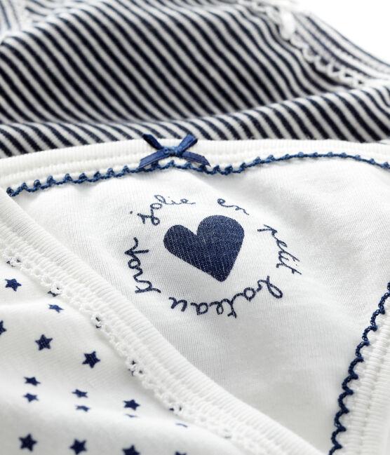 Set mit 3 Unterhosen mit Sternchen-Muster für kleine Mädchen lot .