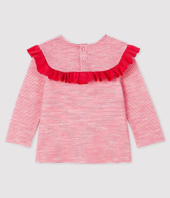 Langärmelige Baby-Bluse für Mädchen POPPY/MARSHMALLOW