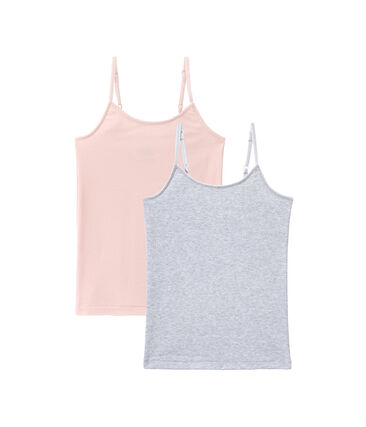 Mädchen Trägerunterhemden im 2er-Set