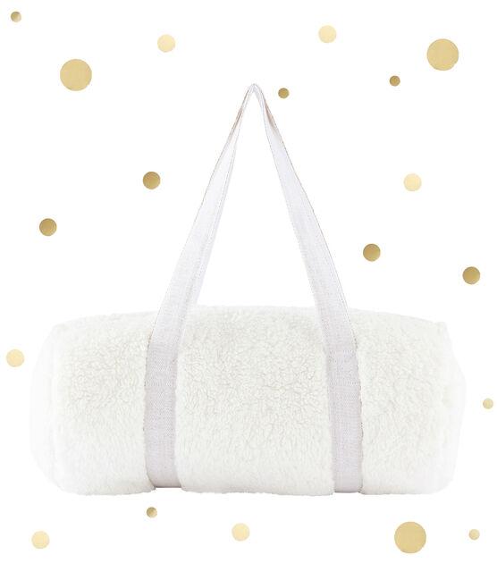 Duffel Bag aus Lammfellimitat weiss Marshmallow