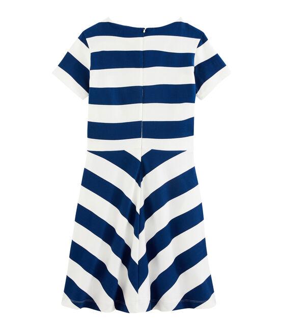 Damenkleid blau Medieval / weiss Marshmallow