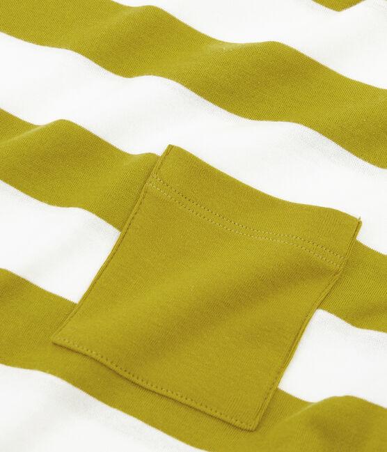 Kurzärmeliges t-shirt herren gelb Bamboo / weiss Marshmallow
