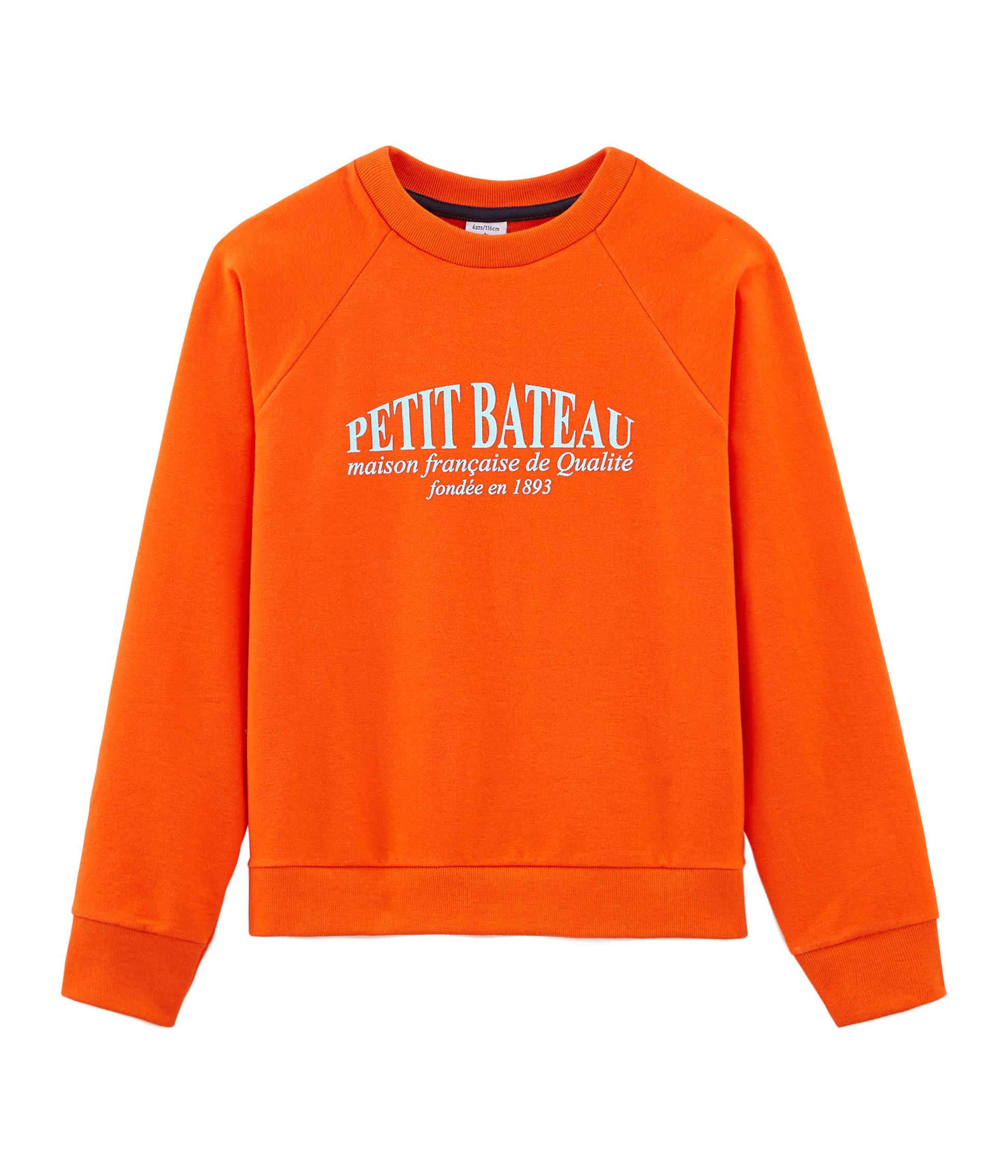 von  Petit Bateau Sweat-Shirt rot//weiß geringelt BRANDNEU!