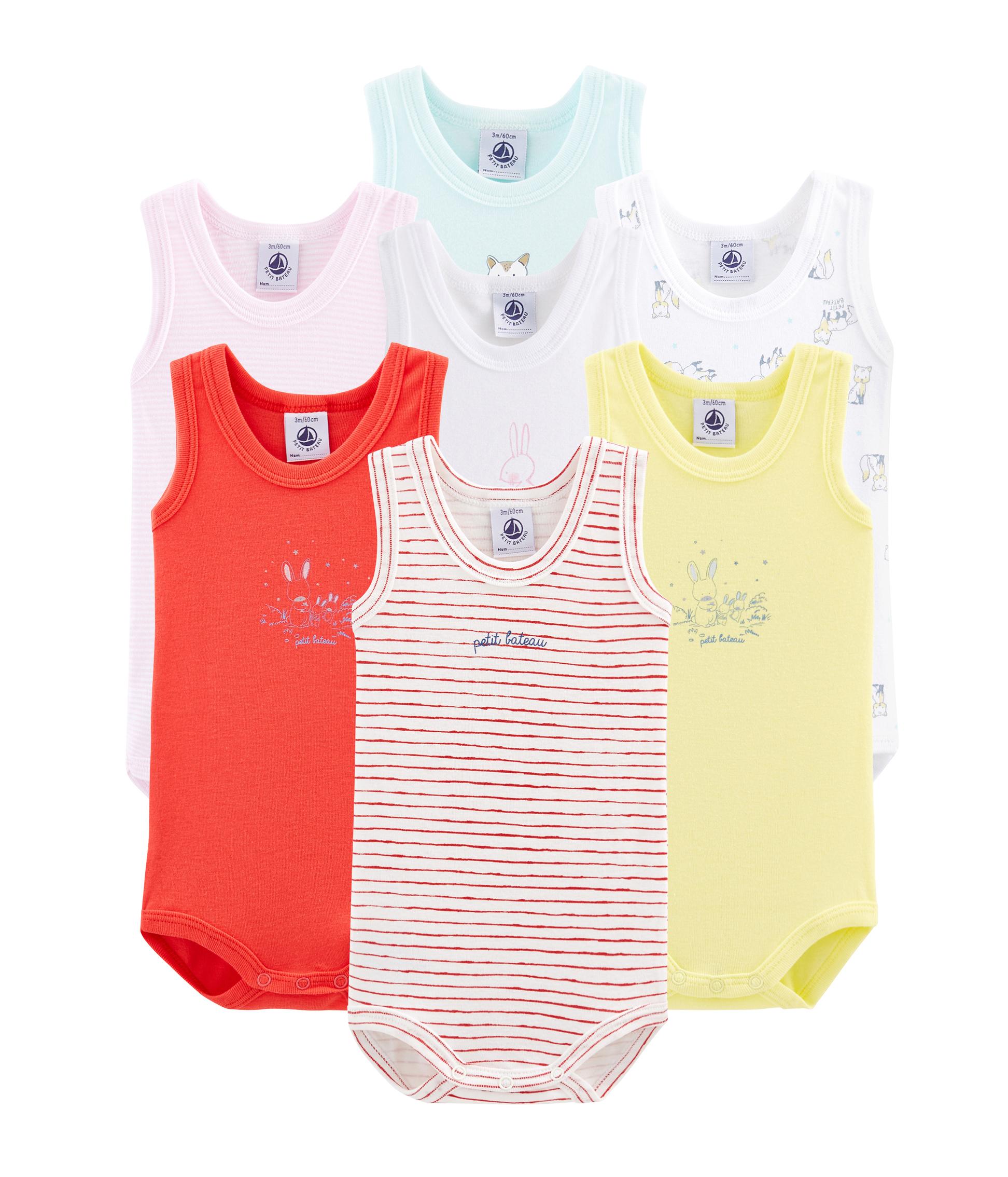 Überraschungstüte mit 7 ärmellosen baby-bodys für jungen