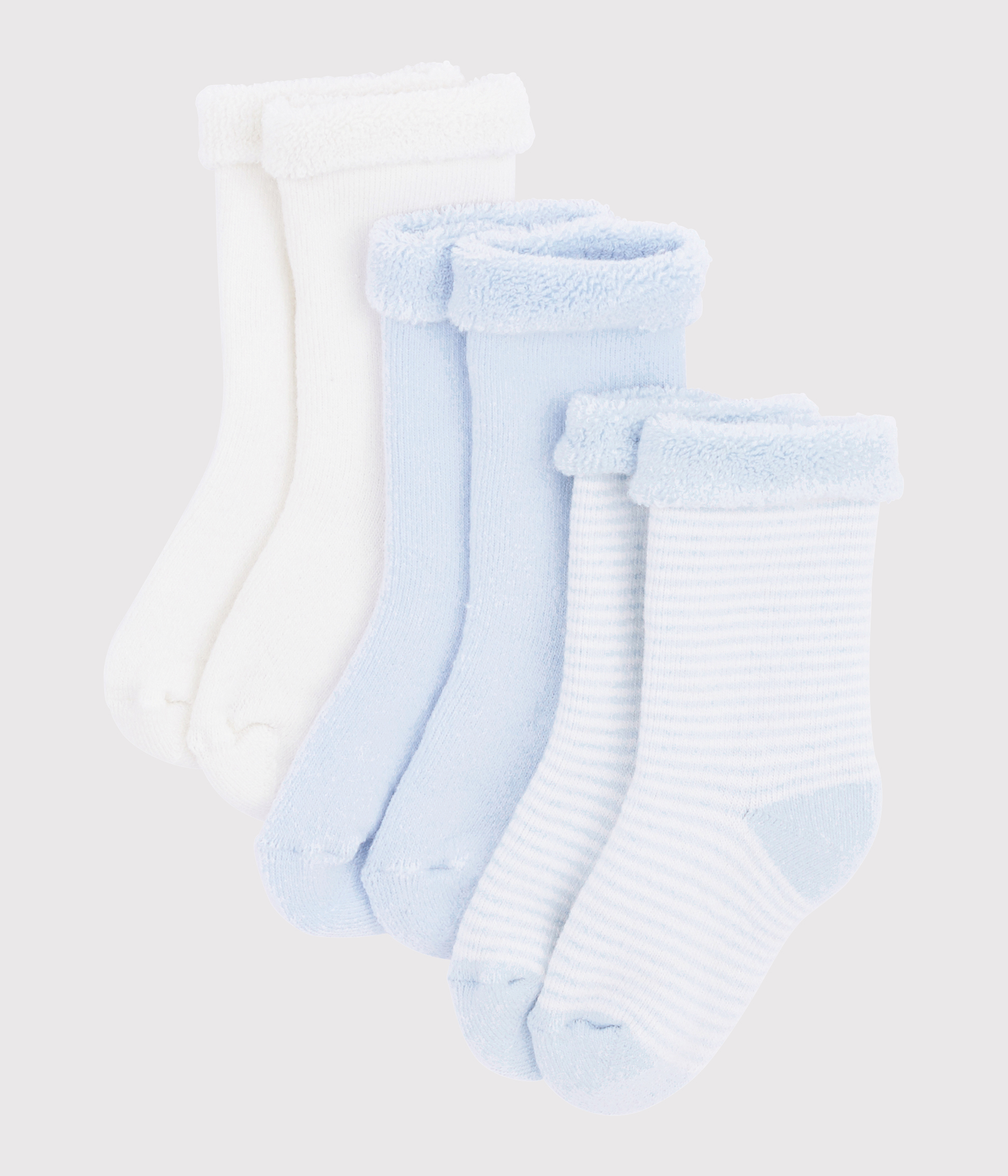 3er-Set Baby-Stricksocken