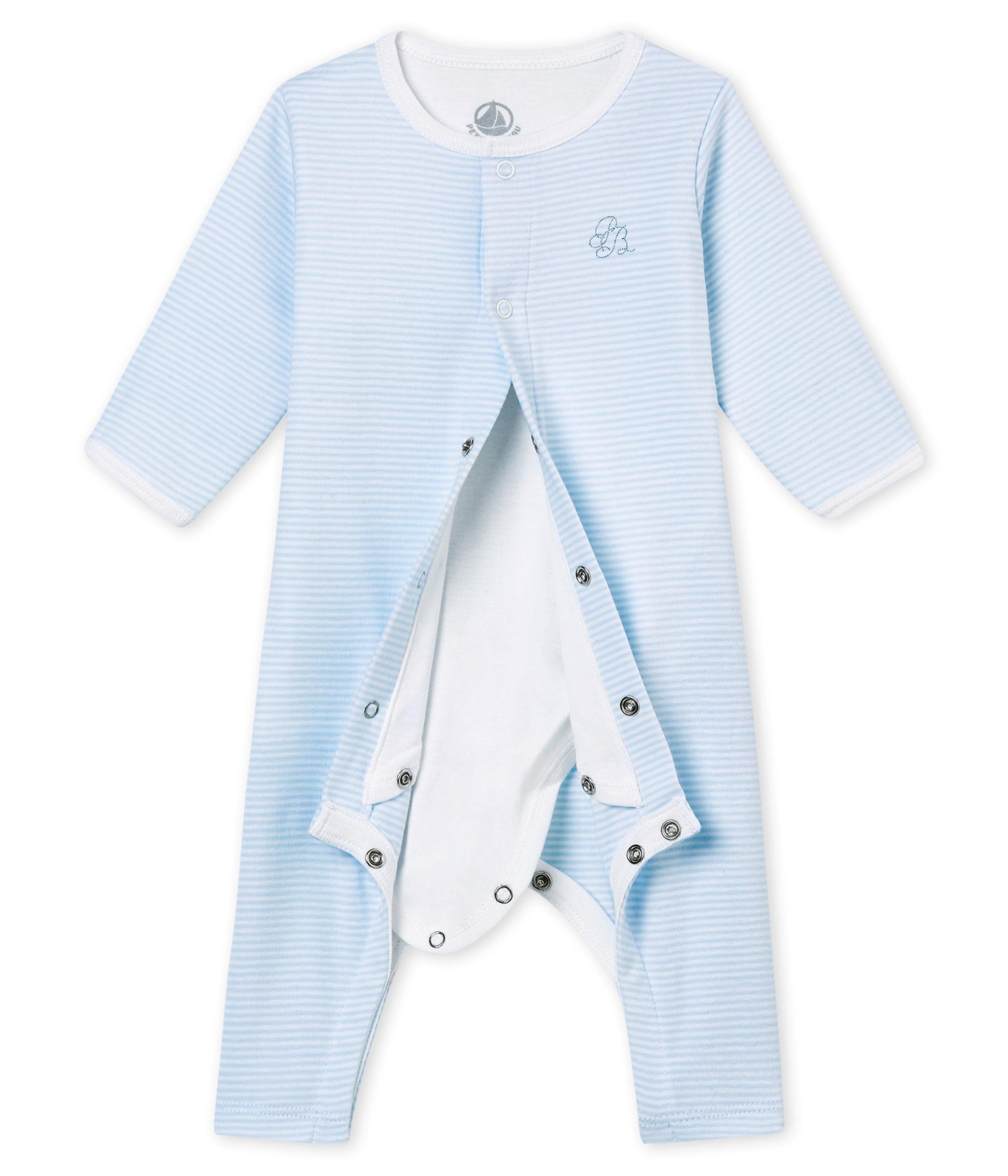 von Petit Bateau royalblau Strampler//Overall//Schlafanzug ohne Fuß NEU!